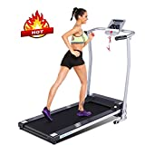 ANCHEER Treadmill, Electric Treadmills for Home with Large LCD Monitor Walking Running Machine Equipment for Home Gym (Sliver)