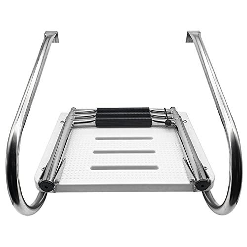 HWLL Escalera Barco Piscina Plataforma de Baño Resistente, Escalera Telescópica Plegable de...