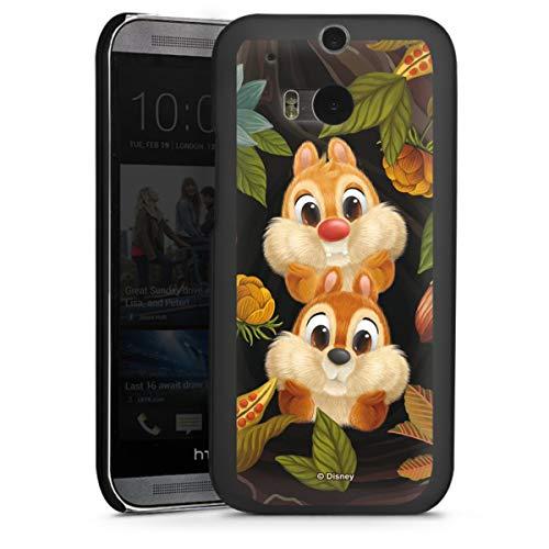 DeinDesign Hard Case kompatibel mit HTC One M8s Schutzhülle schwarz Smartphone Backcover Disney Chip und Chap Offizielles Lizenzprodukt
