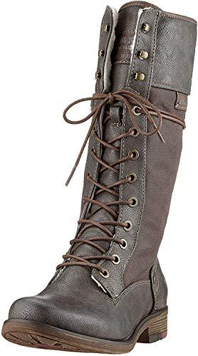 MUSTANG Shoes Stiefel in Übergrößen Grau 1295-606-20 große Damenschuhe, Größe:43