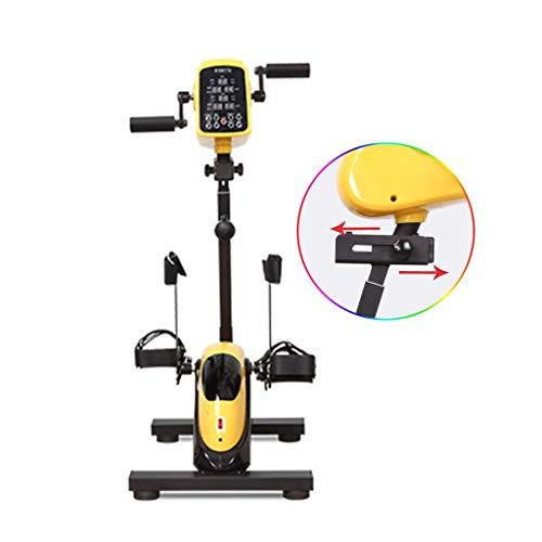 Bicicletas El Ejercicio eléctrica Stroke hemiplejía Miembro de Rehabilitación Equipo de la Aptitud de la Mano y la Pierna máquina de Entrenamiento (Color : Yellow, Size : 41 * 62 * 105cm)