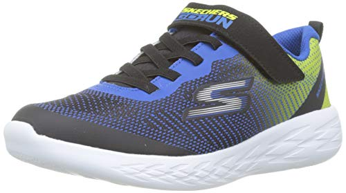 Skechers Boys' Go Run 600-Farrox Trainers, Black (Black Blue Lime Bblm), 13 UK...