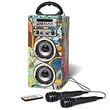 Pure Acoustics MCP-20 Portable Bluetooth Karaoke Machine Speaker. Kids Karaoke Machine. Bluetooth Speaker with Karaoke Machine, 2x Microphones and FM Radio…