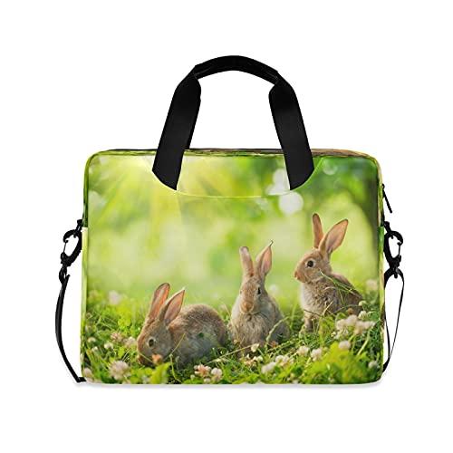 CCDMJ Laptop Case Animal Rabbit Bunny Laptops Sleeve Shoulder Messenger Bag Briefcase Notebook Computer Tablet Bags with Strap Handle for Women Man Boys Girls 16 Inch