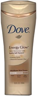 Dove Energy Glow Daily Moisturizer with Subtle Self Tanners for Medium Skin Tones 8.5 oz