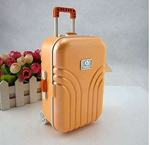 Yetta Tirelire Valise Tirelire Trolley (Orange) Tirelire Décor de Bureau