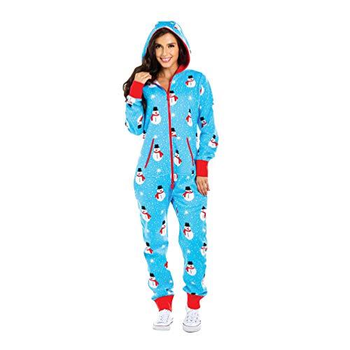 Xegood Pijamas una Pieza Familiares de Navidad,Pijama en Tejido Franela Polar Suave y cómodo para Toda la Familia,Excelente para Invierno Muñeco de Nieve 2#