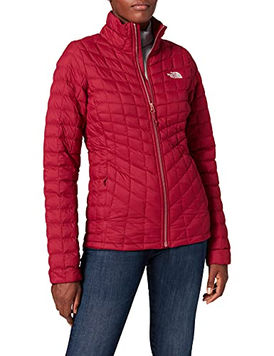 The North Face T93BRL Chaqueta con Cremallera Thermoball, Mujer, Rumba Red, XS