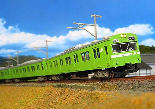 グリーンマックス Nゲージ JR103系 関西形・ウグイス・NS407編成・グレー台車 4両編成セット 動力付き 30375 鉄道模型 電車