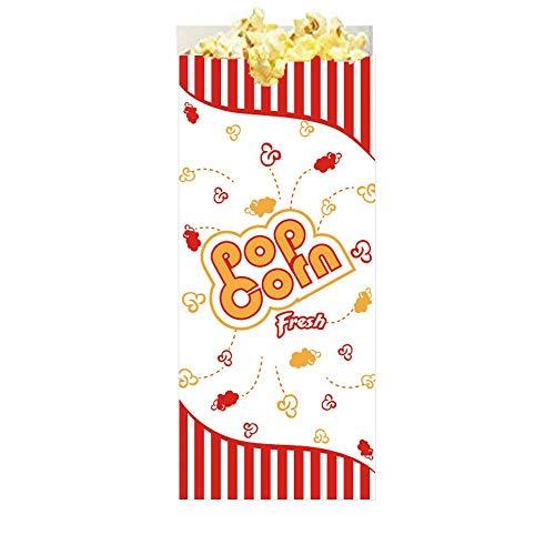 Popcorn-Taschen (100 Stück) Original American Food Bag für Party- und Filmspaß von Hoosier Hill Farm