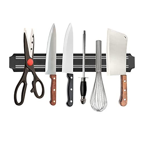 Magnetic Knife Strips,15 InchMagnetic Knife Storage Strip, Kitchen Utensil Holder,Tool Holder,Multipurpose Magnetic Knife Rack,Home Organizer (1 Pack)