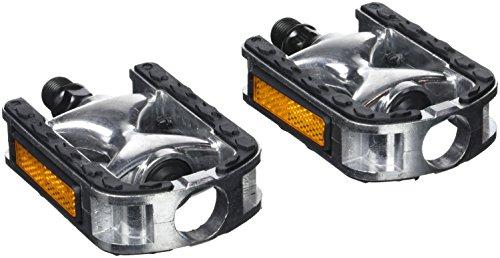 Point, silber-schwarz, City-/komfort-pedale-Aluminium-Kraton-auflage, 26007400
