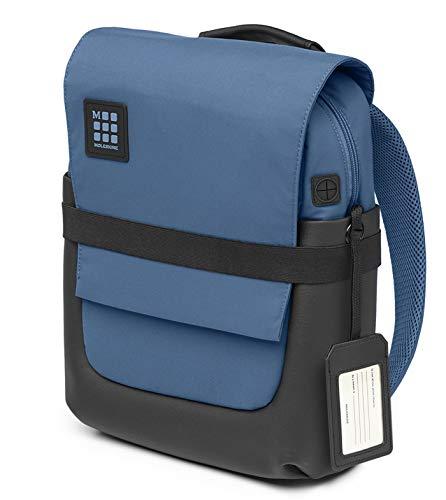 Moleskine Et72bksb31 Zaino Porta PC ID Borsa PC e Tablet, Zainetto con Materiale Impermeabile Resistente all'Acqua, Blu Boreale, 36 cm