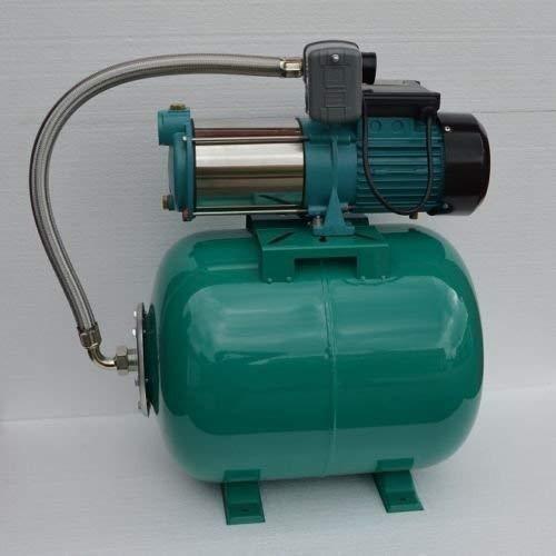 Hauswasserwerk 50Liter + 1300Watt Pumpe INOX mit Edelstahlwelle und Schaufelrädern aus Edelstahl. Fördermenge: 6000l/h + Druckschalter + Rückschlagventil +integrierter thermischer Motorschutzschalter.