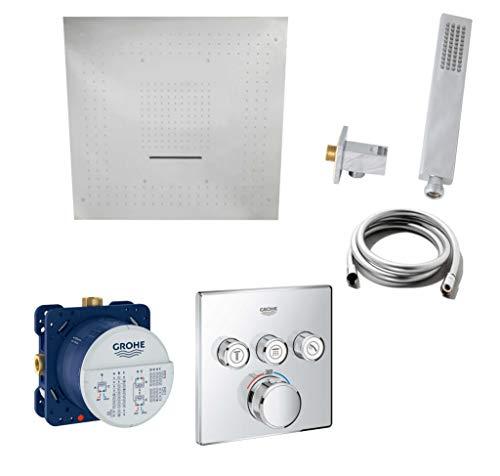 Vanvilla G41 - Conjunto de ducha (termostato, alcachofa de ducha con efecto lluvia y chorro)
