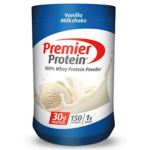 Premier Protein Whey Protein Powder, Vanilla, Packaging may Vary (17 Servings), 28 oz