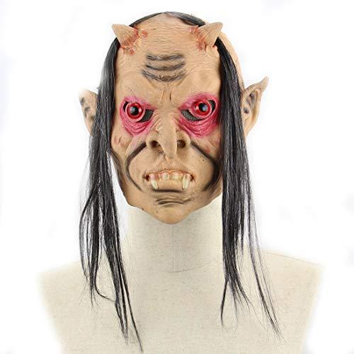 DUBAOBAO Halloween Masker, Latex Lang Haar Rode Oog Demon Buitenlandse Handel Halloween Bal Props Grappige Enge Geest Masker Halloween Kostuum Party