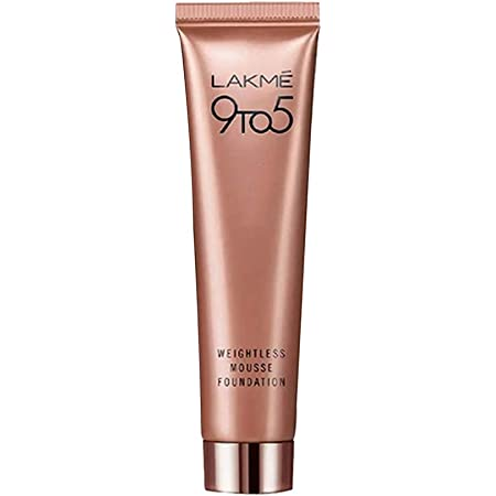 Lakmé 9 To 5 Weightless Mousse Foundation, Rose Ivory, Long Stay, Light Weight Formula, Blends Easily To Conceal Imperfections, 25 g