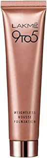 LAKME 9 to 5 Weightless Mousse Foundation, Rose Ivory - 25 gm