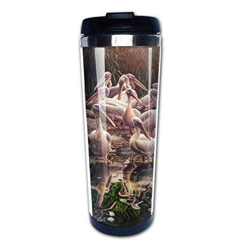 Travel Coffee Mug Pelicans Image Stainless Steel Insulated Coffee Cup Sport Water Bottle 13.5 Oz(400ml) MUG-5351