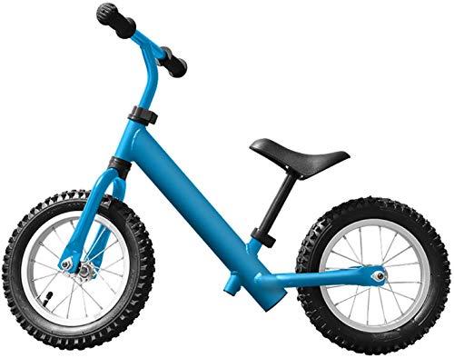 ZXL Enfants 'S Balance Bike Scooter Baby sans pédale 2-6 ans Yo Car Boy and Girl, Blue