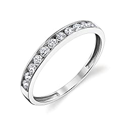 Width of ring: 3mm Top Quality Cubic Zirconia 14k white gold has timeless style and elegance Ring Box included with each purchase International products have separate terms, are sold from abroad and may differ from local products, including fit, age ...