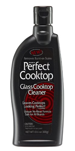 HOPE'S Perfect Cooktop Cleaner and Polish for All Brands of Glass Ceramic Stove Tops 10.6 oz - Case of 12, Pack of 12, Non Scratching No Rinse Heavy Duty Formula