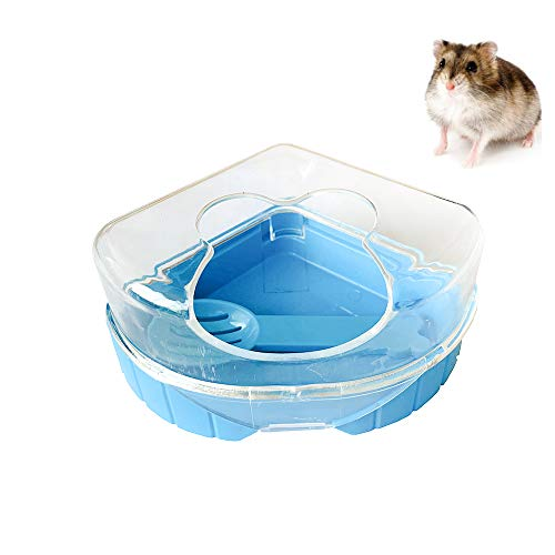PINVNBY Hamster Bathroom GerbilPlastic SandDry Bath Container Small Animal Sauna Toilet Sandboxwith Scoop for Hamster Gerbil RatMice and Small Animal