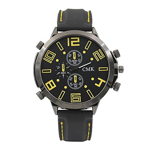 SENZHILINLIGHT Reloj deportivo de silicona grande para hombre de doble ojo vertical de silicona reloj deportivo masculino brújula electrónica al aire libre