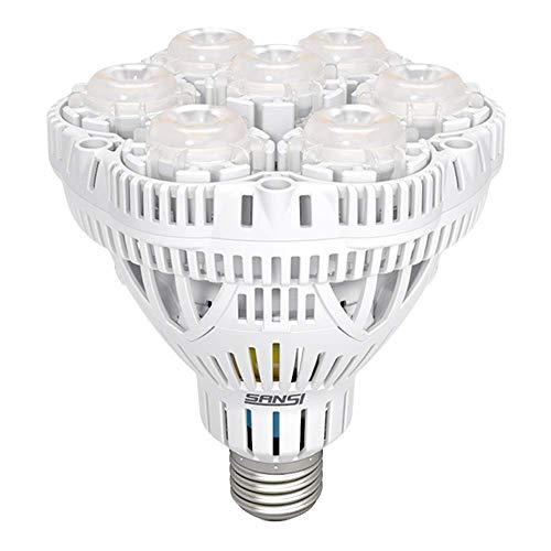 SANSI 36W Pflanzenlampe LED Pflanzenlampe Vollspektrum E27 für Zimmerpflanzen Sonnenlicht LED Pflanzenlicht mit Rot und Blau Licht Wachstumslampe für Gewächshaus Garten, Blumen, Gemüse, Hydroponik