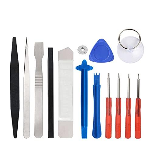 HJTYQS Kit di strumenti di riparazione per smartphone, set di cacciaviti compatibile con iPhone, iPad, Samsung, kit di strumenti manuali (colore: 14 in 1)