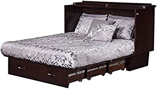 Pemberly Row Queen Murphy Bed Chest in Espresso