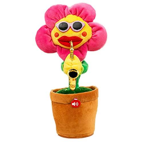 Plüschtier Singing Sun Flower Vibrato Bezauberndes Blumenplüschtier Usb Powered Sunflower Dancing Saxophone Toy Decoration