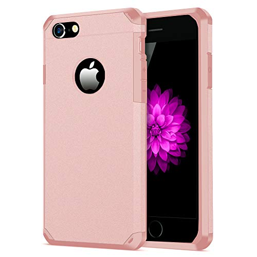 iPhone 7/8 Case, ImpactStrong Heavy Duty Dual Layer Protection Cover Heavy Duty Case for iPhone 7/8 (Rose Gold)