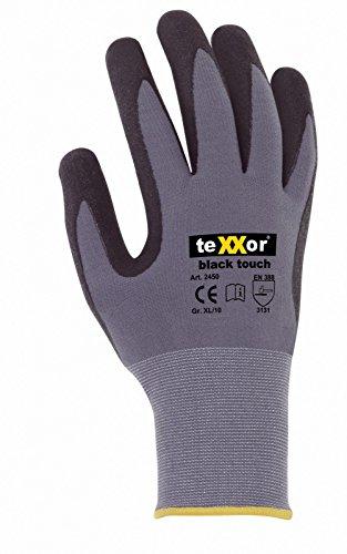 3er Pack texxor Black Touch Arbeitshandschuhe, Montagehandschuhe, Größe:10 (XL)