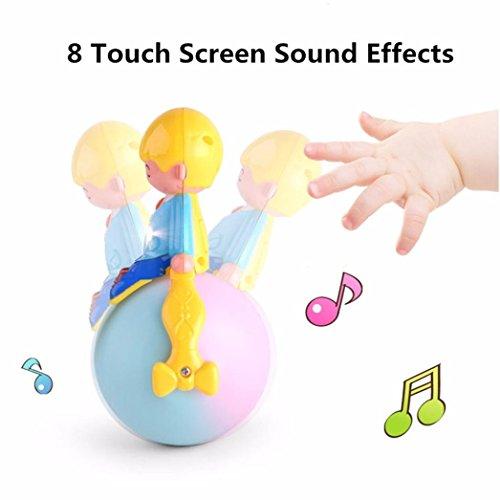 Prevently nuovo arrivo di alta qualità multi-funzione luce musica running tumbler giocattoli per bambini regalo creativo, A