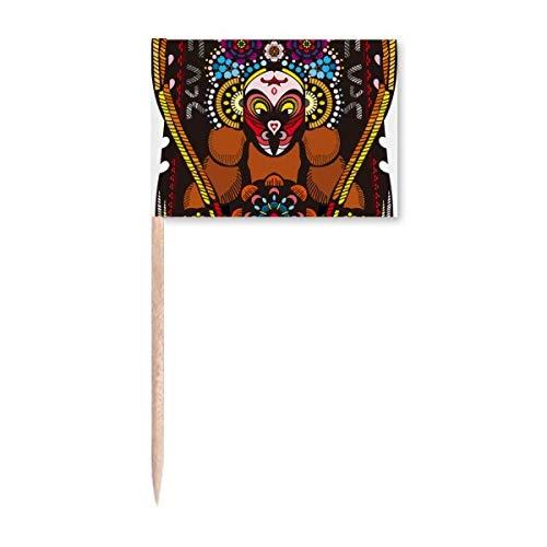Chinesische chinesische Peking-Muster Zahnstocher Flaggen Marker Topper Party Dekoration