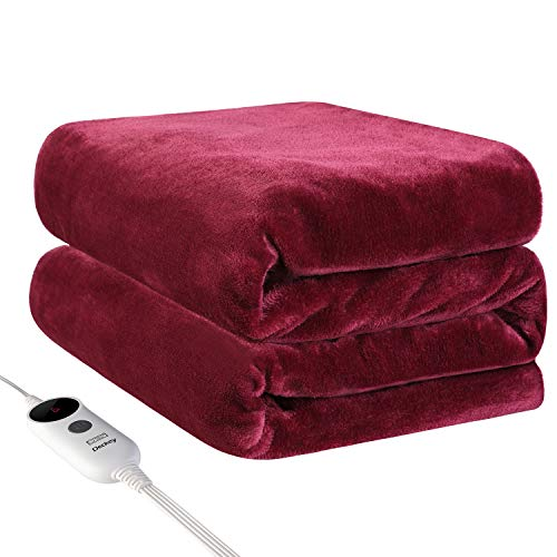 "Deckey Electric Heated Blanket Throw 50""x 60"",Heating..."
