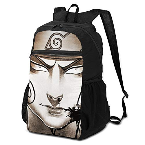Jiadourun Naruto Akimichi Paquete de almacenamiento plegable mochila ligera multiusos práctica plegable al aire libre mochila para hombres mujeres mochila de viaje