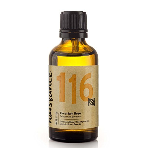 Naissance Rosengeranie (Nr. 116) 50ml - 100% naturreines ätherisches Rosengeranienöl - tierversuchsfrei, vegan, unverdünnt - für Aromatherapie, Massagemischungen & Duftlampen