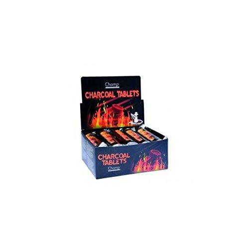 Rouleau de 10 pastilles Charbon auto allumant 3 cm pour Chicha CHAMP - Narguilé Pipe a Eau Encens - 285