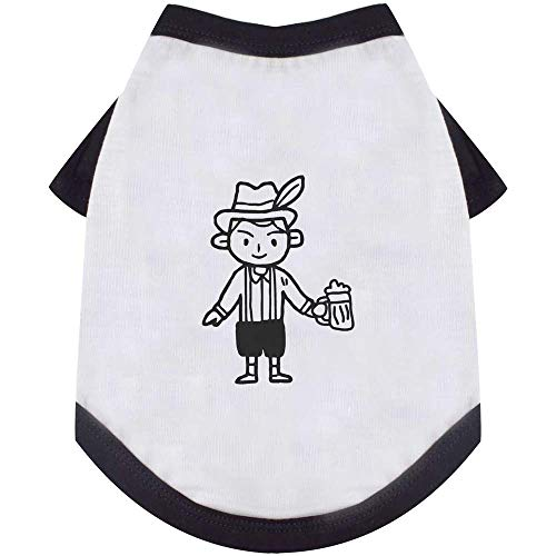 Azeeda Groß'Mann trägt Lederhosen' Hund / Katze / Haustier T-Shirt (PT00016107)