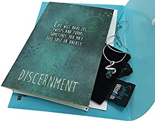 Smiling Wisdom - Discernment Greeting Card Set - I Believe in You Encouragement - 925 Pure Sterling Silver Green Natural Calcedony w CZ Necklace - Twists & Turns in Our Journey - 2019 Graduation Gift