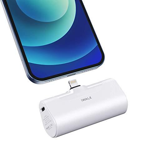 iWALK Power Bank Piccolo 4500mAh Ultra Compatto Caricabatterie Portatile Pacco Batteria Compatibile con iPhone12 Mini/12/12 Pro/12 Pro Max/11 Pro/XS Max/XR/X e Altro