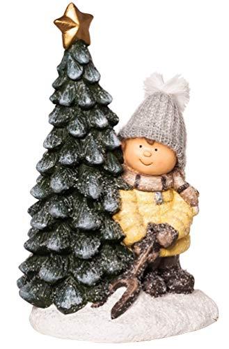 Wichtelstube-Kollektion XXL 42cm Dekofigur Winterkind Weihnachtsbaum Weihnachten Weihnachtsdeko Figuren Garten