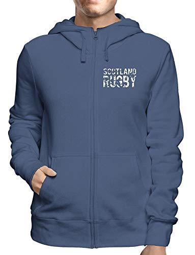 Sweatshirt Hoodie Zip Navy TRUG0172S Scotland Rugby