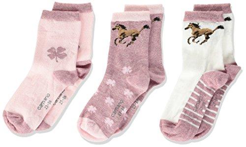 Camano Mädchen Children Fashion 3p Socken, Rosa (Silver Rose Mel. 73), 31/34 (3er Pack)