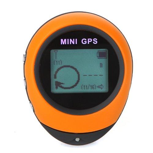 Lixada PG03 Mini Récepteur GPS Navigation Localisateur Extérieur Portable USB Rechargeable avec Boussole pour Les Voyages Sportifs en Extérieur (Jaune)