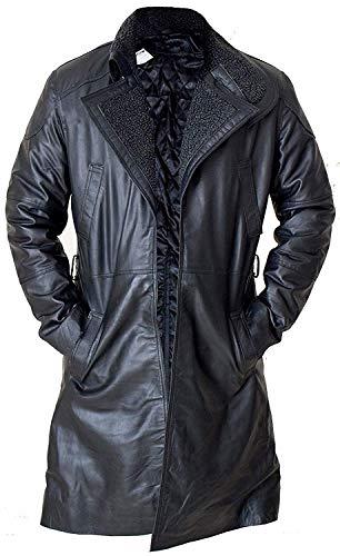 Amo Distro Blade Runner 2049 Oficial K Ryan Gosling - Abrigo Largo de Piel para Hombre, Color Negro Negro Negro (M