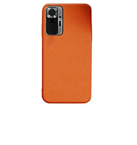 Xiaomi Redmi Note 10 Pro用 ケース/カバー PUレザー ソフトケース シャオミ 小米 リドミーノート10 プロ レザー調 ケース アンドロイド おしゃれ スマートフォン/スマフォ/スマホケース/カバー(オレンジ)